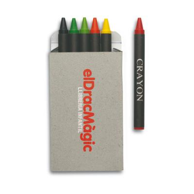 Image of Promotional Crayons Carton of 6 wax crayons custom branded
