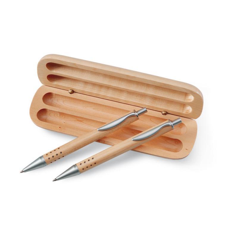 Promotional Pen Gift Set In Wooden Box Pens Promobrand