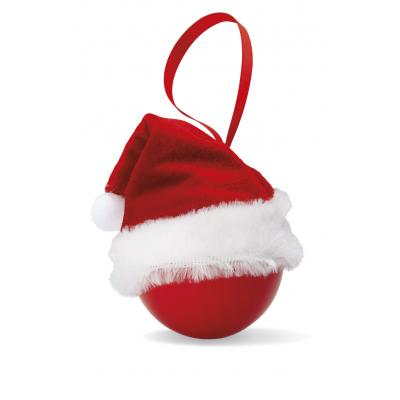 Image of Promotional Christmas Bauble with Santa Hat