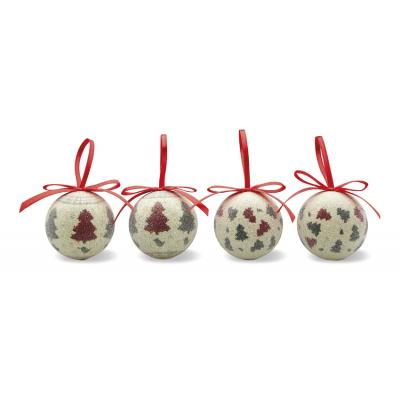 Image of Promotionl Christmas Baubles, 4 pack, pearl finish