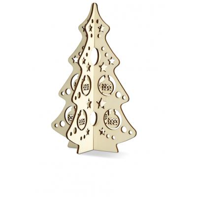 Image of Promotional Wooden Christmas Tree Decoration; Printed with your brand, Ideal Christmas Gift