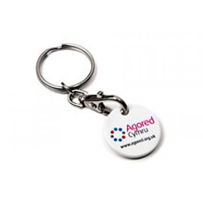 Image of Promotional Round Trolley Coin  Keyring. New 12 Sided Trolley Coins Available
