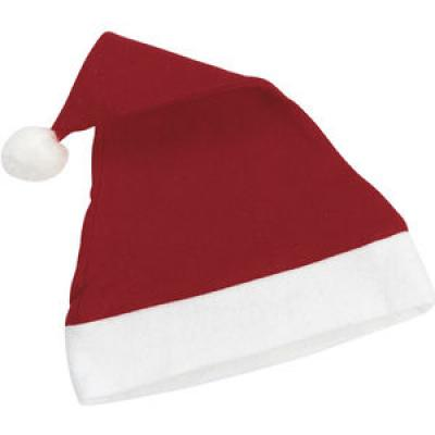 Image of Classic Red Promotional Santa Hats - Branded on the red or white part of the hat