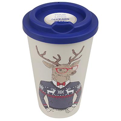 5aeb8d08493e7 Image of Branded Christmas Themes Americano style Mug with reindeer design.