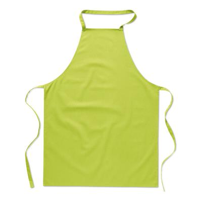 Image of Printed Lime Green Apron Manufactured from 100% cotton