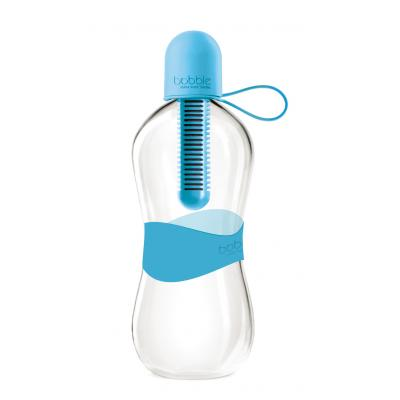 Image of Promotional Water Filtering Bobble Bottle in blue - Reusable Branded Water Bobble Bottle