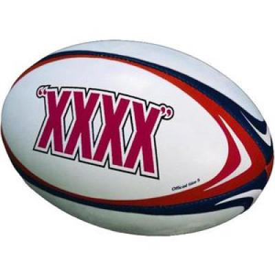 Image of Promotional Full size 5 Rugby Balls - Quality Leatherlook stitched