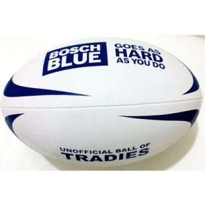 Image of RUBBERISED FULL SIZE RUGBY BALL - size 5 match ready rubber rugby balls
