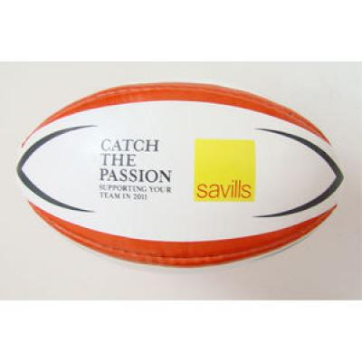 Image of Custom Branded Rugby Balls with sure grip rubberised surface.