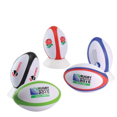 Image of Promotional Rugby Ball Stress Shapes to Print with your Brand