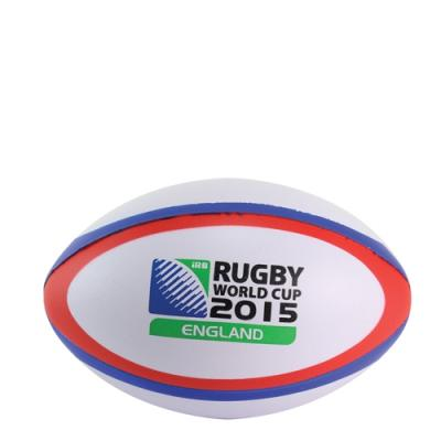 Image of Promotional Mini Rugby Balls Stress shape Dual Colour White Red and Blue