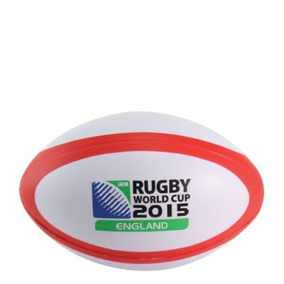Image of Corporate Branded Rugby Stress Balls RED AND WHITE