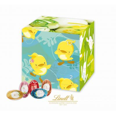 Image of Promotional Branded LIndt Easter Cube - 20 mini Lindt chocolate eggs