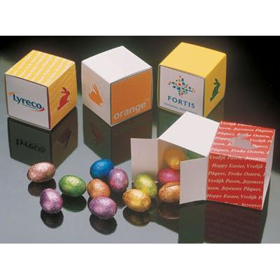 Image of Promotional Easter cube filled with 75g of Easter eggs