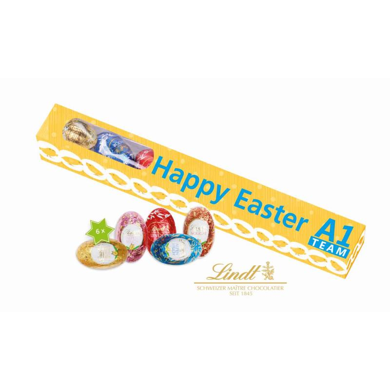 Promotional easter box with 6 lindt chocolate eggs easter eggs promotional easter box with 6 lindt chocolate eggs negle Image collections
