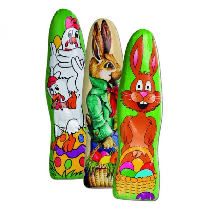 Milk chocolate easter bunny with personalised foil easter milk chocolate easter bunny with personalised foil negle Images