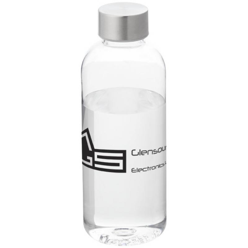 printed spring water bottle clear bpa free and leakproof water bottles promobrand