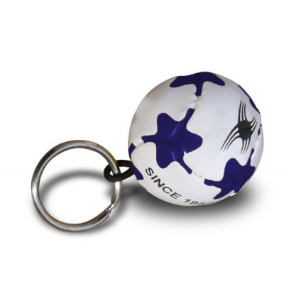 Image of Promotional Mini Football Keyring - Pantone Matched Mini PVC Football Keyring