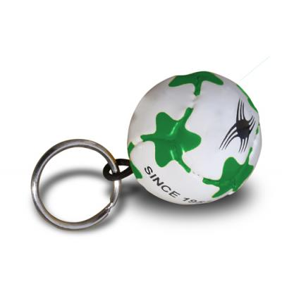 Image of Branded Mini PVC Football Keyring Printed with your Logo