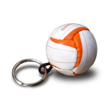 Image of Printed Mini Football Keyrings - Quality Mini PVC Football Keyring