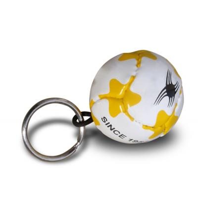 Image of Branded Football Keyring - Football Keyring with your Brand Name or Logo Printed