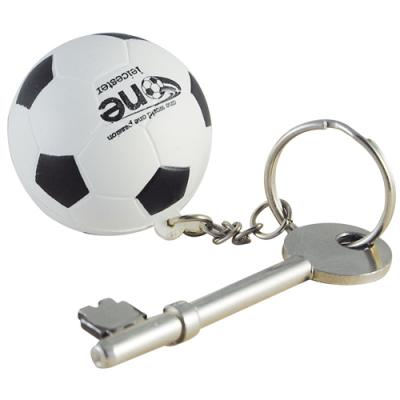 Image of Promotional Stress Football Keyring Printed with your logo