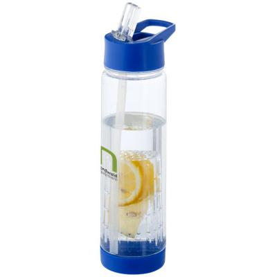 Image of Printed Tutti frutti water bottle with infuser. Promotional Water Bottle