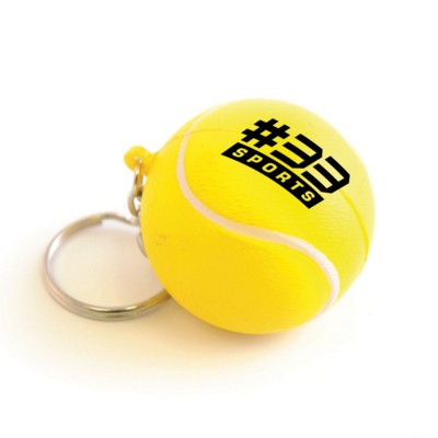 Image of Promotional Stress Tennis Ball Keyring - Printed