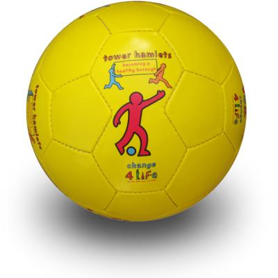 Image of cheap full size promo footballs printed