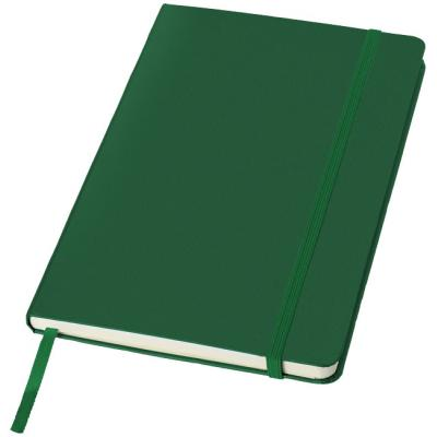 Image of  A5 Printed Notebook In Green With Elastic Closure
