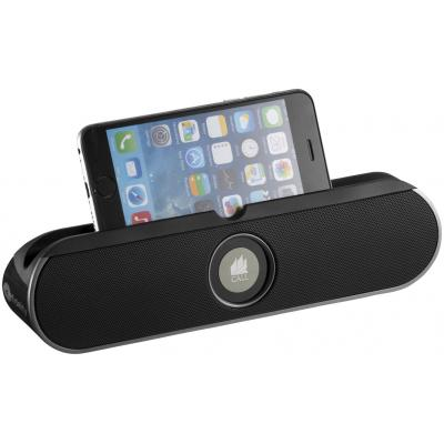 Image of Printed Promotional Rollbar Bluetooth® Speaker Stand In Black-8 Hour Charge