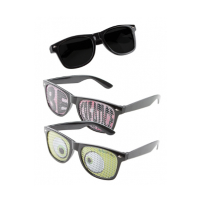 Image of Printed Logo Lens Sunglasses with Full Colour Custom Lenses
