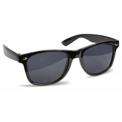 Image of Cheap Promotional Black Sunglasses - Classic Wayfarer Sunglasses Printed with your Logo