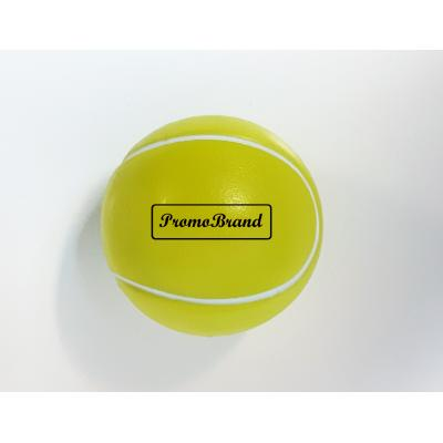Image of Printed Tennis Ball Lip Balm - Yellow Tennis Ball Shaped Lip Balms