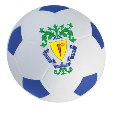 Image of Printed Football Stress Balls - Blue and White