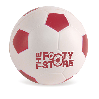 Image of Printed Anti Stress Footballs - Squeezy Footballs Red and White