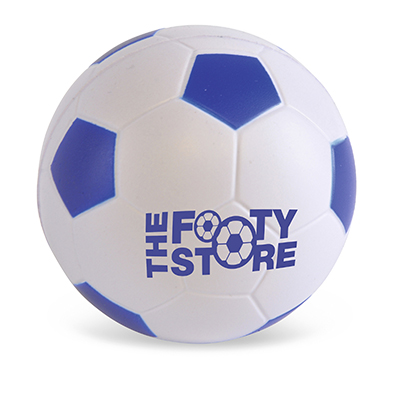 Image of Printed Blue Football Stress Balls - Mini Footballs