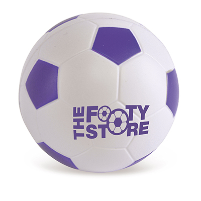 Image of Promotional Purple Stress Footballs - Mini Footballs Printed