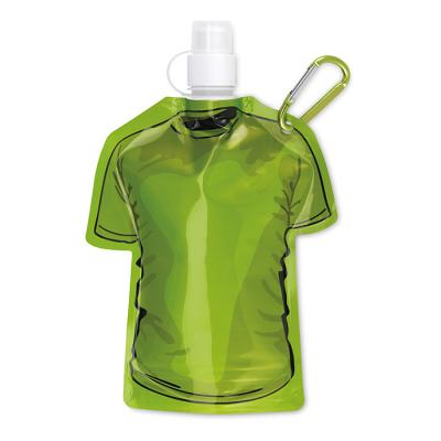 Image of Promotional Foldable Sports Bottle T Shirt Shape - Green. Printed Sports Bottle.