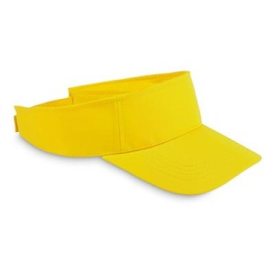 Image of Promotional adjustable Sun Visor hat. Yellow
