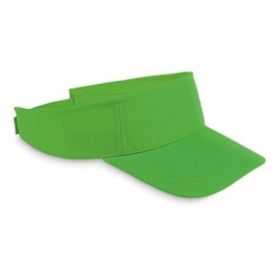 Image of Promotional Sun Hat.Printed Adjustable Sun Visor Hat. Lime Green 4eb24103cbe