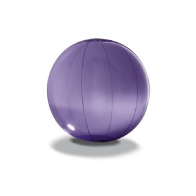 Image of Promotional  Beach Ball. Printed Transparent Beach Ball Purple.