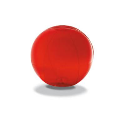 Image of Promotional Beach Ball.Branded Inflatable Beach Ball. Red Beach Ball