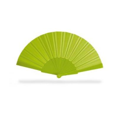 Image of Promotional Fan.Printed Hand Held Fan. Cheap Summer Item. Lime Green