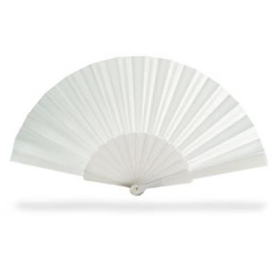 Image of Promotional Cheap Hand Held Fan. Available In A Variety Of Bright Colours. White