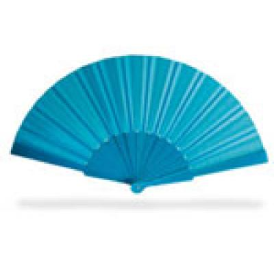 Image of Promotional Hand Held Fan.Printed Summer Manual Fan. Blue