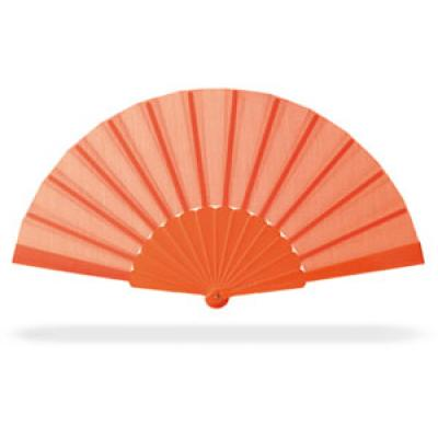 Image of Promotional Fan.Printed Hand Held Fan. Cheap Summer Item. Orange