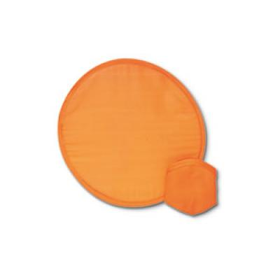 Image of Promotional Foldable Frisbee. Express Printed Frisbee With Matching Pouch. Orange