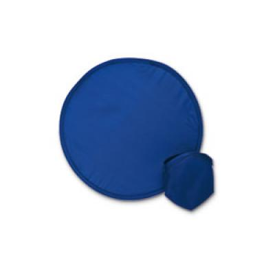 Image of Express Printed Foldable Frisbee With Matching Pouch. Blue