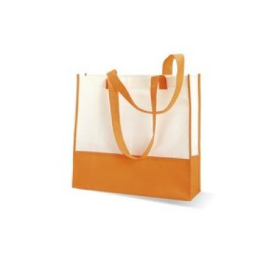 Image of Promotional Shopping / Summer Beach Bag. Available In A Variety Of Colours. Express Available. Printed Orange Beach Bag.